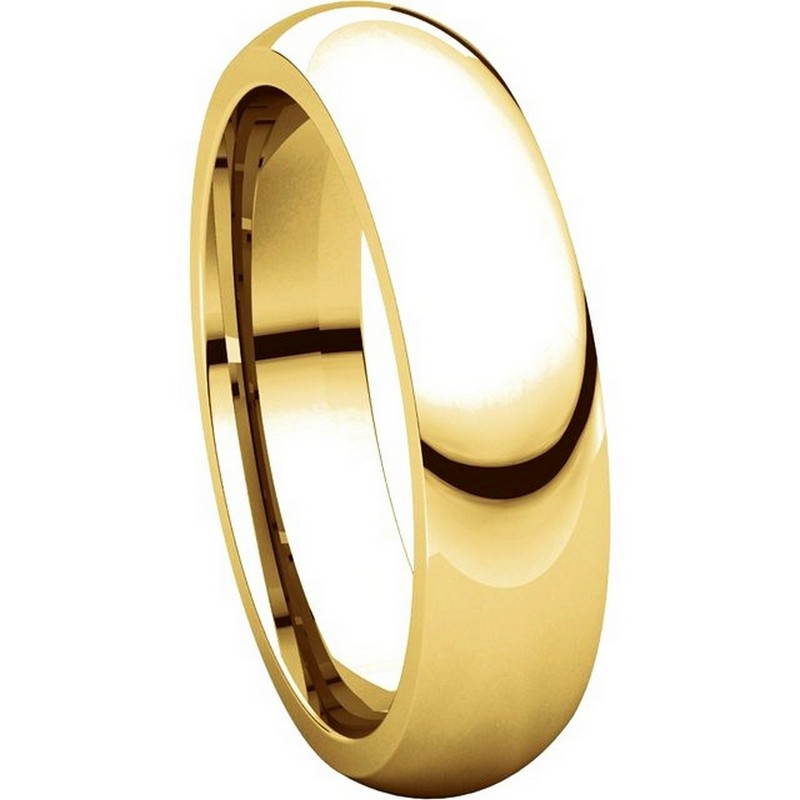 Item # XH123815 View 5 - 14K Gold 5mm Heavy Comfort Fit Wedding Band