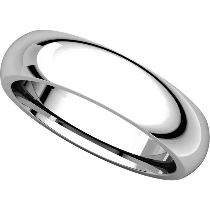 Item # XH123815W View 4 - 14K White Gold heavy 5mm Comfort Fit Wedding Band