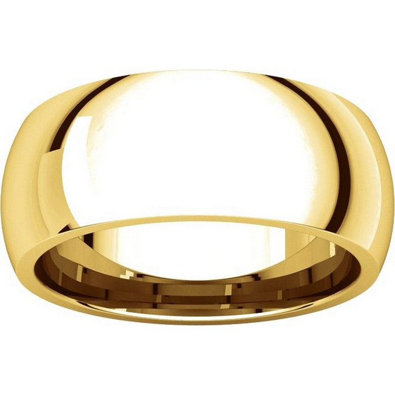 Item # XH123838 View 3 - 14K Yellow Gold 8mm Comfort Fit Wedding Band