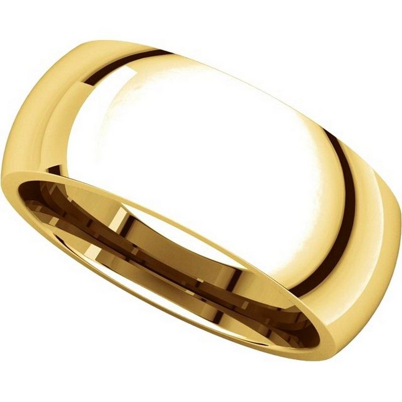 Item # XH123838 View 4 - 14K Yellow Gold 8mm Comfort Fit Wedding Band