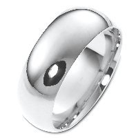 Item # XH123838AG - Silver 8mm Comfort Fit Wedding Band
