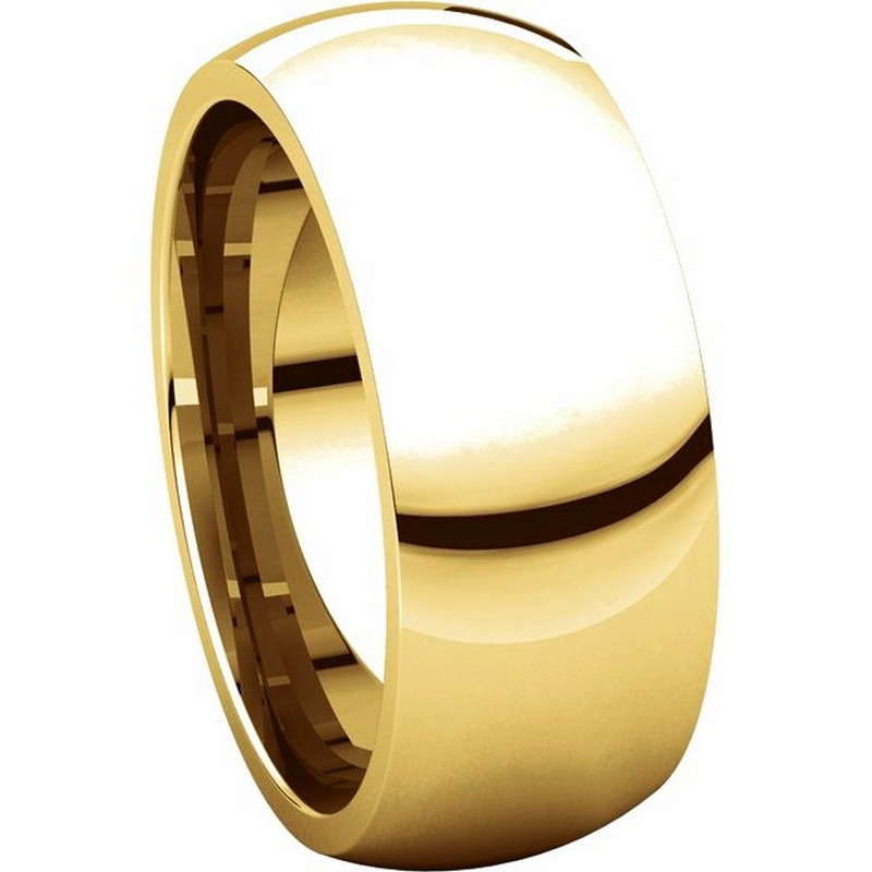 Item # XH123838E View 5 - 18K Yellow Gold 8mm Comfort Fit Wedding Band