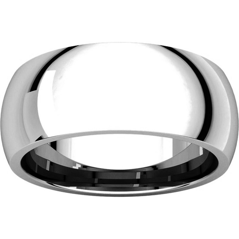 Item # XH123838W View 3 - 14K White Gold  8mm Comfort Fit Wedding Band