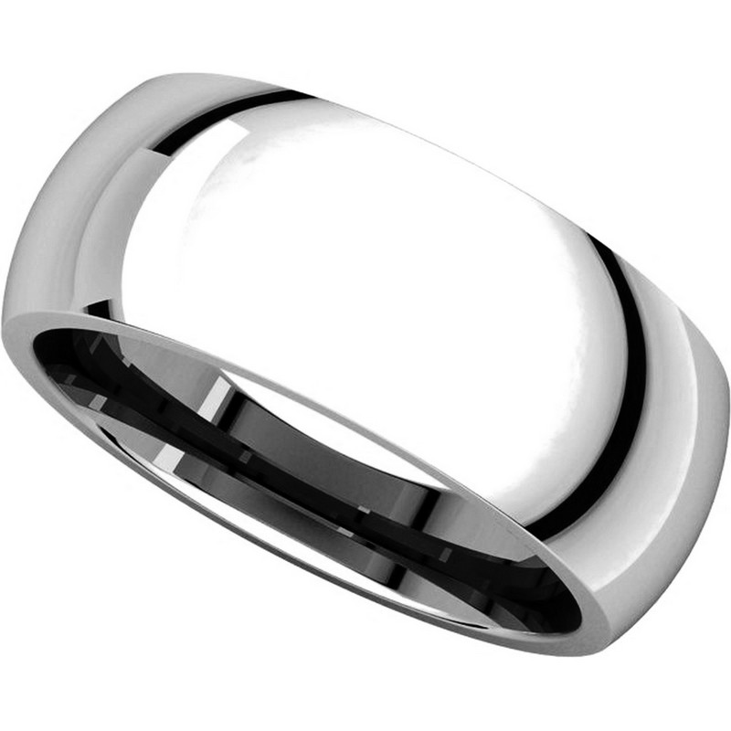 Item # XH123838W View 4 - 14K White Gold  8mm Comfort Fit Wedding Band