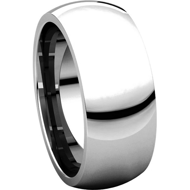 Item # XH123838W View 5 - 14K White Gold  8mm Comfort Fit Wedding Band