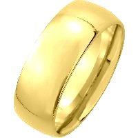 Item # XM116837 - 14K Medium Weight 7mm Comfort Fit Wedding Band