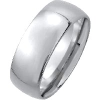 Item # XM116837W - 14K Medium Weight 7mm Comfort Fit Wedding Band