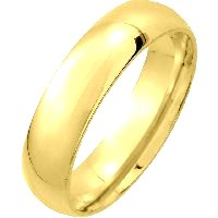 Item # XM123815 - 14K Gold Medium Weight 5mm Comfort Fit