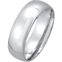 Item # XM123826W - 14K Comfort Fit Wedding Band 14K White Gold