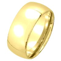 Item # XM123838 - 14K Medium Weight 8mm  Comfort Fit Wedding Band