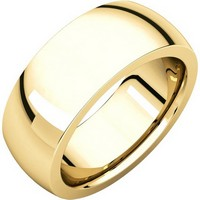 Item # XVH123838E - 18K Gold 8mm Very Heavy 8mm Plain Comfort Fit Band