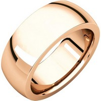 Item # XVH123838RE - 18K Rose Gold 8mm Very Heavy 8mm Plain Comfort Fit Band