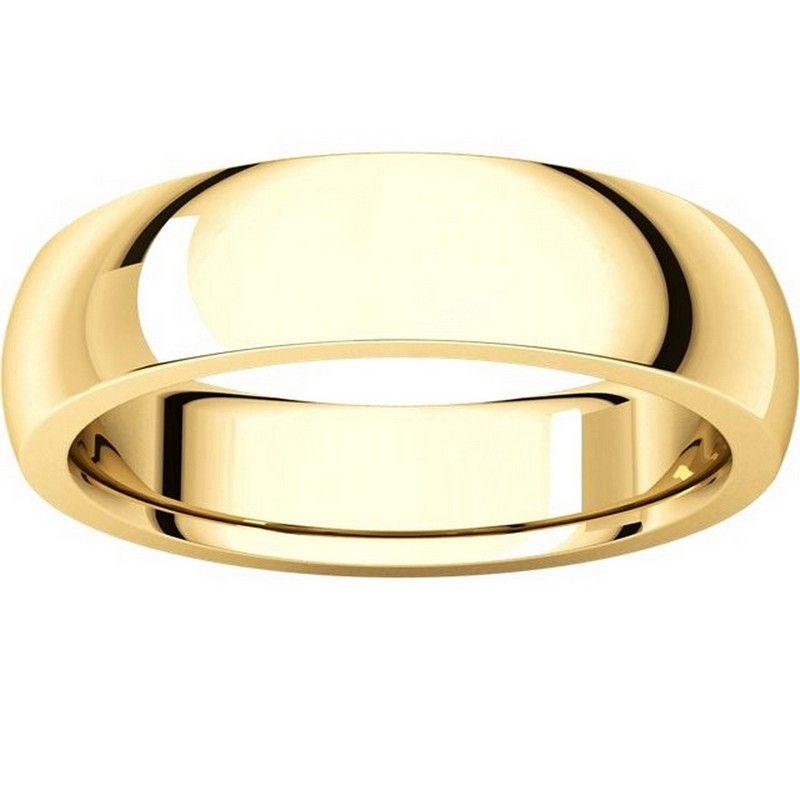 Item # XVH23826 View 3 - 14K Gold 6mm Comfort fit Very Heavy Plain Wedding Band