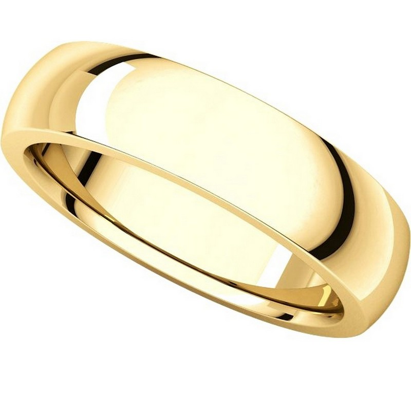 Item # XVH23826 View 4 - 14K Gold 6mm Comfort fit Very Heavy Plain Wedding Band