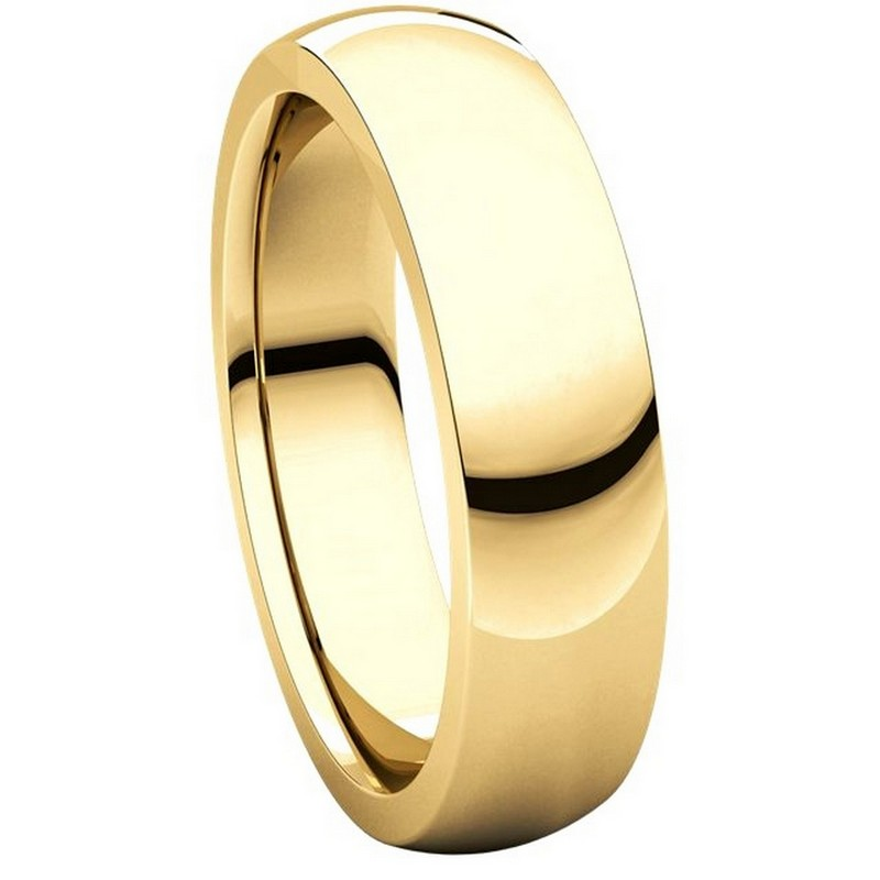 Item # XVH23826 View 5 - 14K Gold 6mm Comfort fit Very Heavy Plain Wedding Band