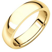 Item # XVH23826E - 18K Gold 6mm Comfort fit Very Heavy Plain Wedding Band