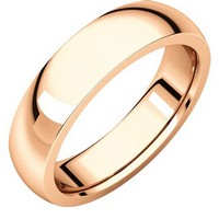 Item # XVH23826RE - 18K Rose Gold 6mm Comfort fit Very Heavy Plain Wedding Band