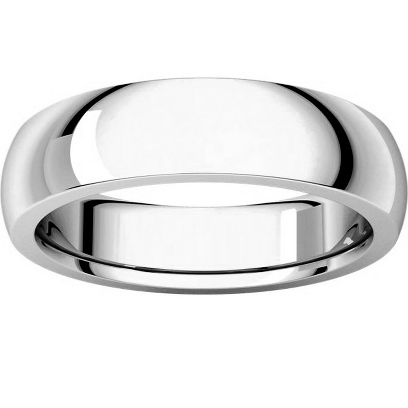 Item # XVH23826W View 3 - 14K White Gold 6mm Comfort fit Very Heavy Plain Wedding Band