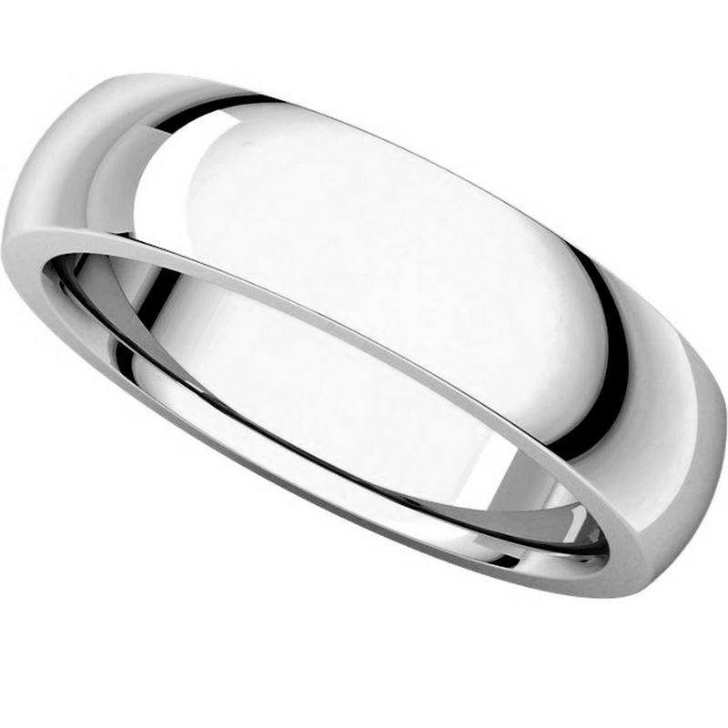Item # XVH23826W View 4 - 14K White Gold 6mm Comfort fit Very Heavy Plain Wedding Band