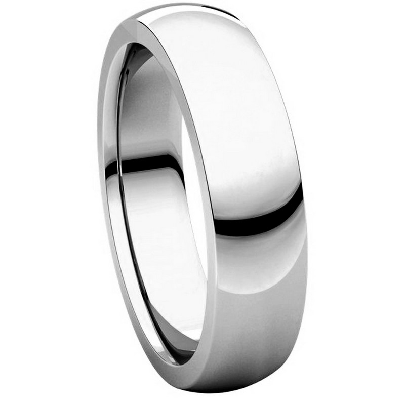 Item # XVH23826W View 5 - 14K White Gold 6mm Comfort fit Very Heavy Plain Wedding Band