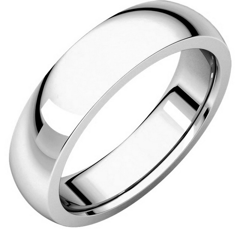 Item # XVH23826W - 14K white gold 6.0mm wide very heavy comfort fit wedding band.