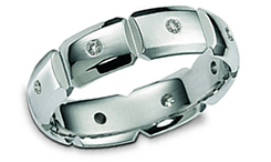 Platinum Contemporary Wedding Rings