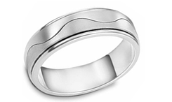 Plalladium Contemporary Wedding Rings