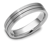 Plalladium Hand-Crafted Wedding Rings