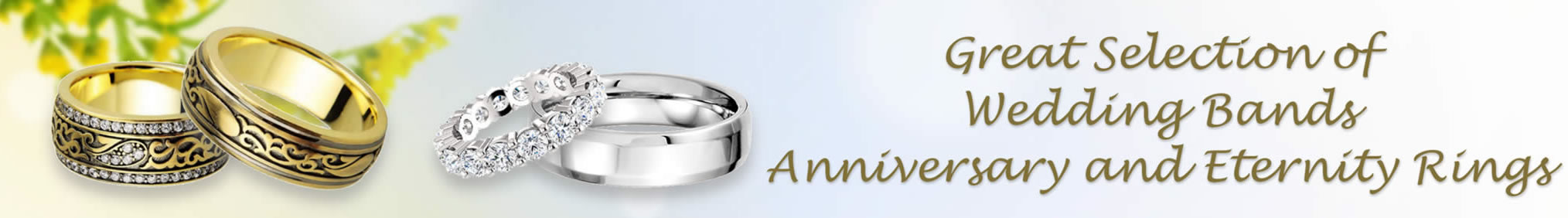 Great Selection of Wedding Bands Anniversary and Eternity Rings