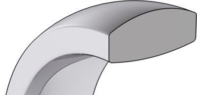 Heavy Comfort Fit Wedding Bands Cross Section