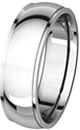 8mm Comfort Fit Wedding Bands With Edge