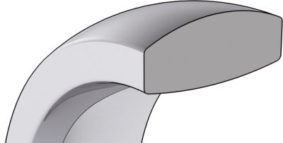 Very Heavy Comfort Fit Wedding Bands Cross Section