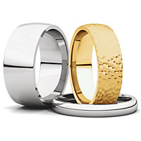 Light Comfort Fit Wedding Bands