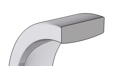 Square Comfort Fit Wedding Bands Cross Section