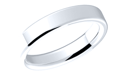 18K White Gold Wedding Bands Plain Ring