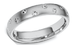 Diamond 14K Gold Wedding Rings
