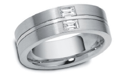 Palladium wedding ring image