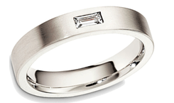mens wedding bands - Mens Platinum Wedding Ring