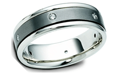 Diamond Titanium white Gold Wedding Ring