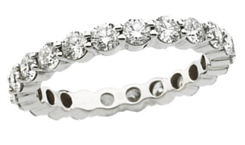 platinum eternity bands image