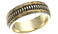 Hand crafted wedding bands image