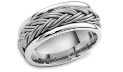 Platinum Hand Crafted Wedding Bands