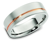 Contemporary wedding band