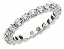 Eternity bands rings