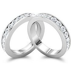 Channel set eternity bands