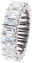 7.0CT Diamond Eternity Band Emerald Cut