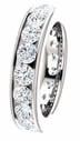 2.85CT Diamond Eternity Band Channel Set