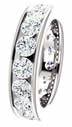 3.50CT Diamond Eternity Band Channel Set